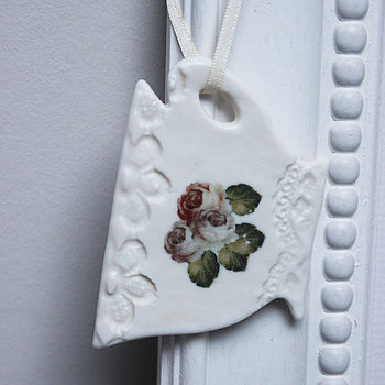 Porcelain Teacup Hanging Decoration