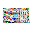 Upcycled Vintage U.N. World Flags Cushion