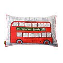 Upcycled Harrods 1978 London Bus Cushion
