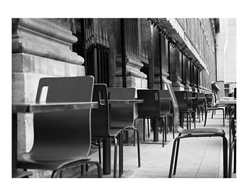 Chairs, Paris, France, Black And White Signed Print