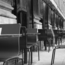 Chairs, Paris, France, Black And White Print