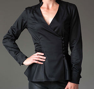 Josephine Shirt   Black - women's fashion