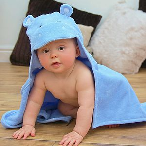 Hippo Baby Hooded Towel
