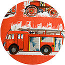 History of Fire Engines Vintage Cushion