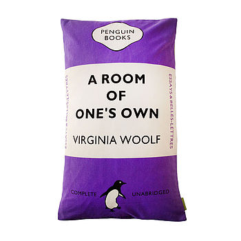 Purple Virginia Woolf Penguin Cushion