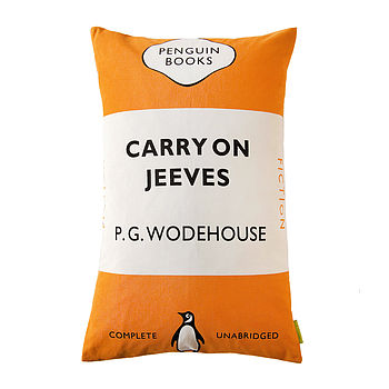 Penguin 'Carry On Jeeves' Books Cushion
