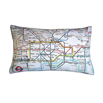 London Underground Tube Map Cushion