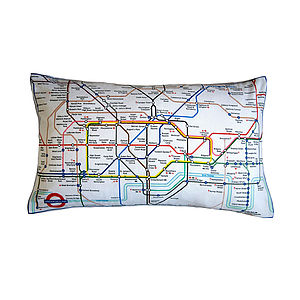 London Underground Tube Map Cushion - cushions