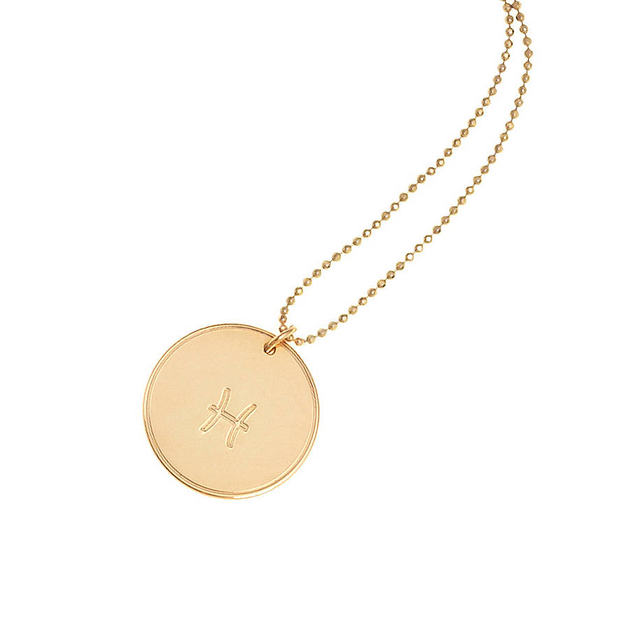 westbourne jewellery pendant necklace disc gold rose wesbourne personalised auree