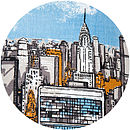 Chrysler Building New York Skyline cushion
