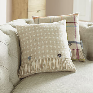 Natural Spot Wool Cushion