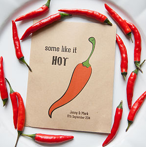 10 'Some Like It Hot' Seed Packet Favours