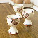 Country Heart Egg Cup