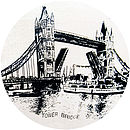 London Tower Bridge vintage cream cushion