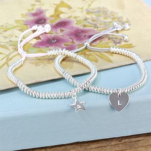 Delicate Links Bracelet With Initial - jewellery