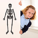 'Happy Bones' Skeleton Wall Sticker