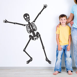 'Happy Bones' Skeleton Wall Sticker - office & study