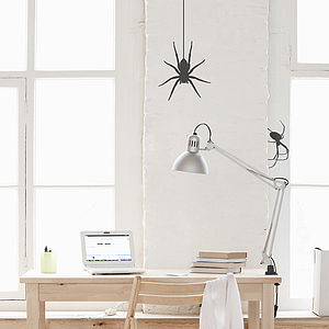 Bats And Spiders Halloween Wall Sticker - party decorations