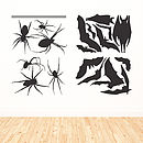 Bats And Spiders Halloween Wall Sticker