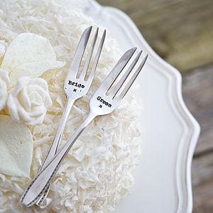 Personalised Vintage Wedding Cake Forks