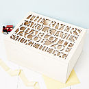 Personalised Wooden Family Keepsake Box