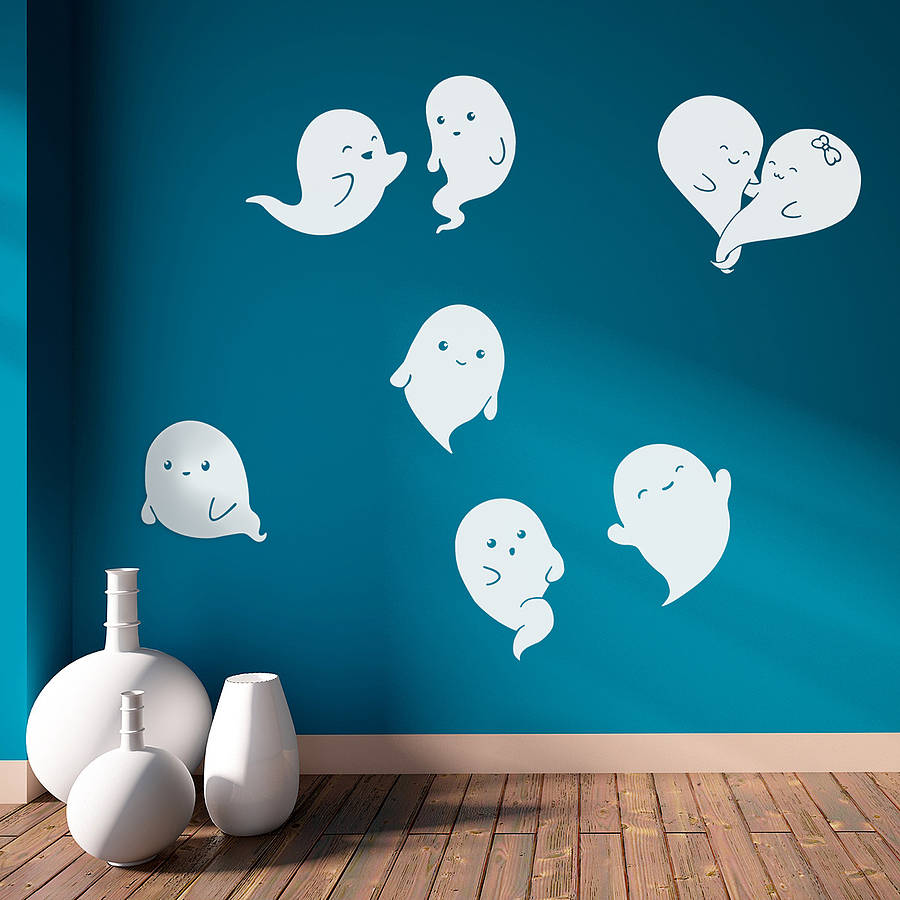 ghosts halloween wall stickers