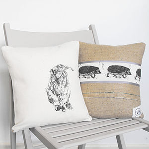 Hare And Hedgehog Cushion