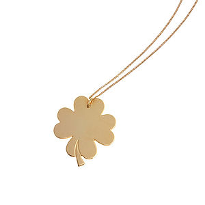 Personalised Engraved Clover Necklace
