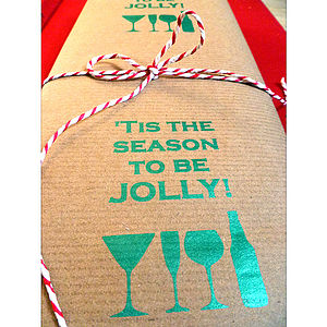 Jolly Time! Handmade Christmas Wrapping Paper