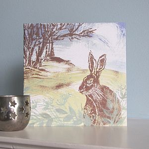 Woodland Hare Greetings Card