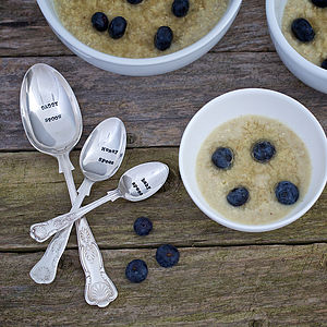 Personalised Vintage Family Spoon Set - on trend: alternative family trees
