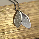 Engraved Message Leaf Pendant
