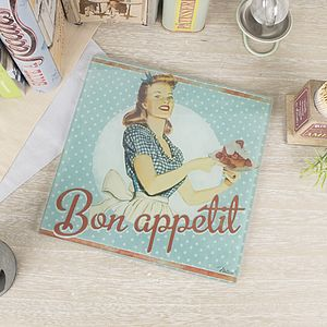 Bon Appetit Glass Trivet - kitchen accessories