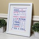 Personalised Typography Wedding Gift Print