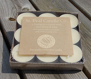 Box Of Nine Scented Tealights - table decorations