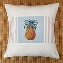 Hand Painted Pineapple Cushion