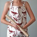 Wine Cowparsley Apron