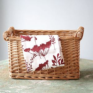 Wine Cowparsley Tea Towel
