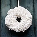 Ruffled Paper Christmas Wreath Kit