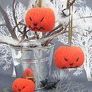 Personalised Knitted Pumpkin Halloween Decoration