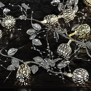 Silver Eastern Leaf Fairy Lights - lighting