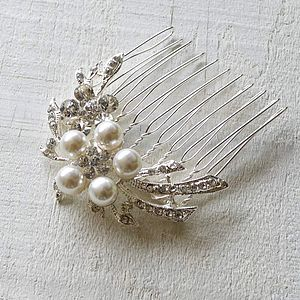 Flower Cascade Hair Comb - bridal accessories