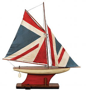 Union Jack Pond Yacht - sculptures