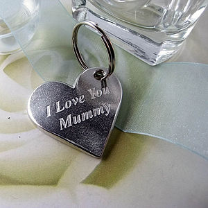 Love You Mum/Mummy Heart Keyring - decorative accessories