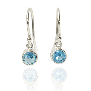 Birthstone Earrings In Sterling Silver - wedding jewellery