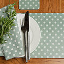 Madelaine Sage Set Of Four Placemats