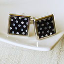 Mother Of Pearl Dotty Cufflinks