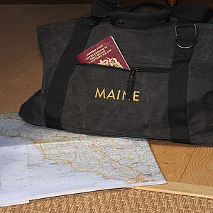 Personalised Canvas Bag - holdalls & weekend bags