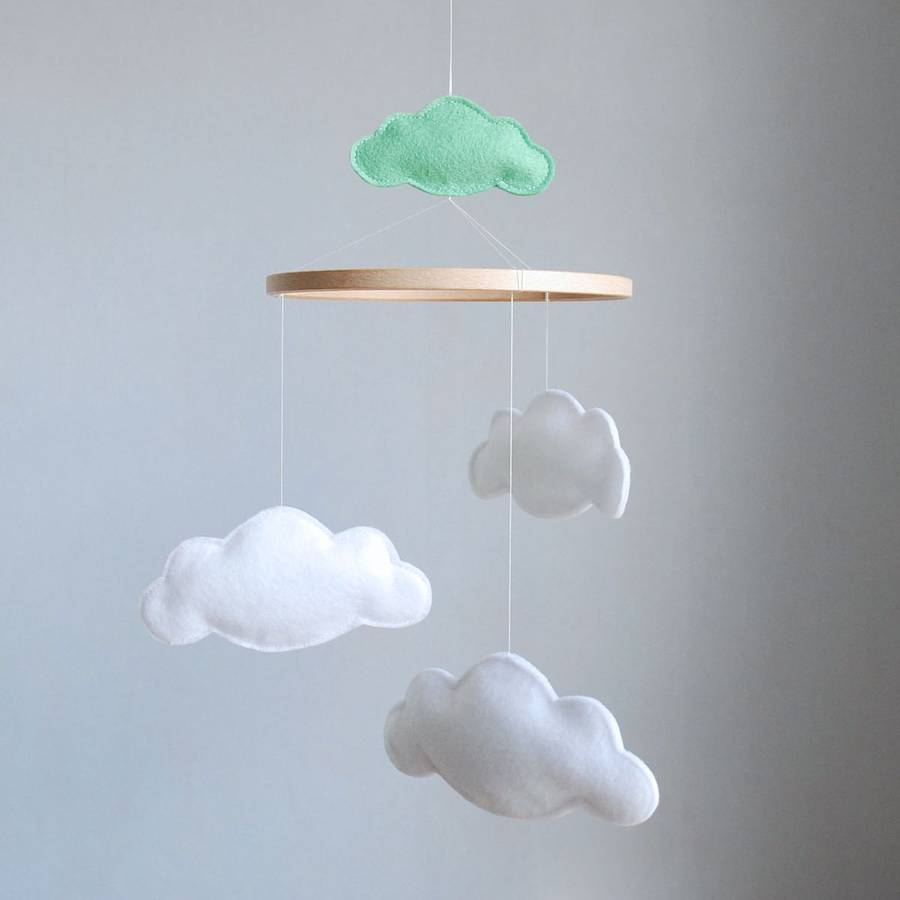 mobiles  notonthehighstreetcom - personalised multi cloud baby mobile  baby toys