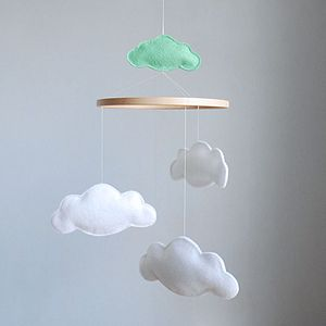 Personalised Multi Cloud Baby Mobile - dreamland nursery